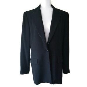 Oscar de la Renta Jacket Blazer Black sz 14 XL